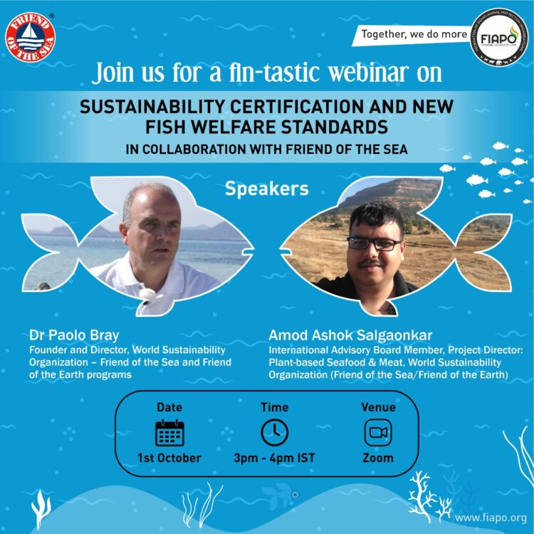 FIAPO – Webinar on Sustainability Certification and New Fish Welfare Standards