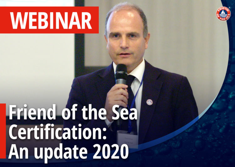 """Webinar on """"Friend of the Sea certification and conservation. An Update"""" post image"""